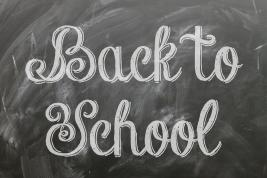 "chalkboard art that says ""back to school"""
