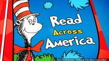 "Cat in Hat with words next to him saying ""Read Across America"""